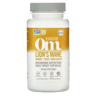 Om Mushrooms, Lions's Mane, 667 mg, 90 Vegetarian Capsules