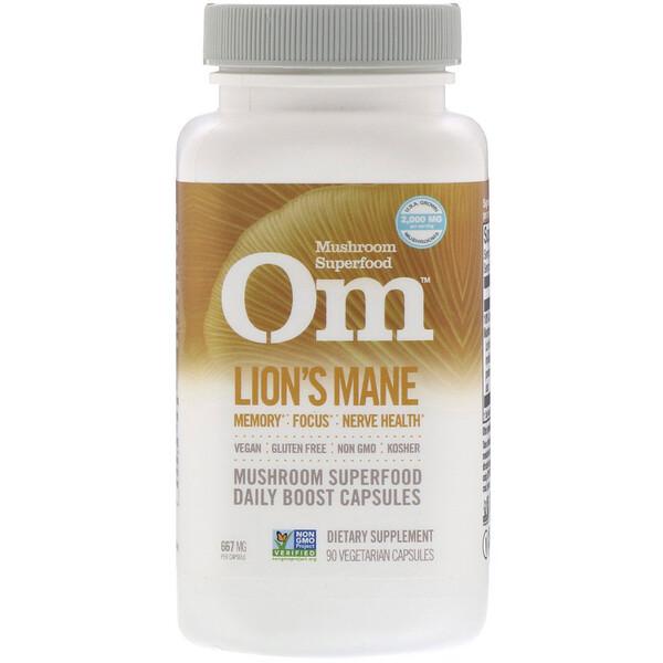Organic Mushroom Nutrition, Lions's Mane, 667 mg, 90 Vegetarian Capsules