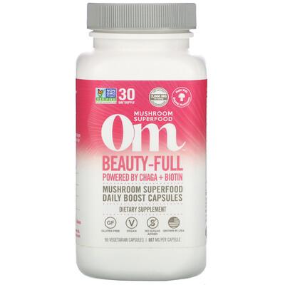 Купить Om Mushrooms Beauty-Full, 667 mg, 90 Vegetarian Capsules