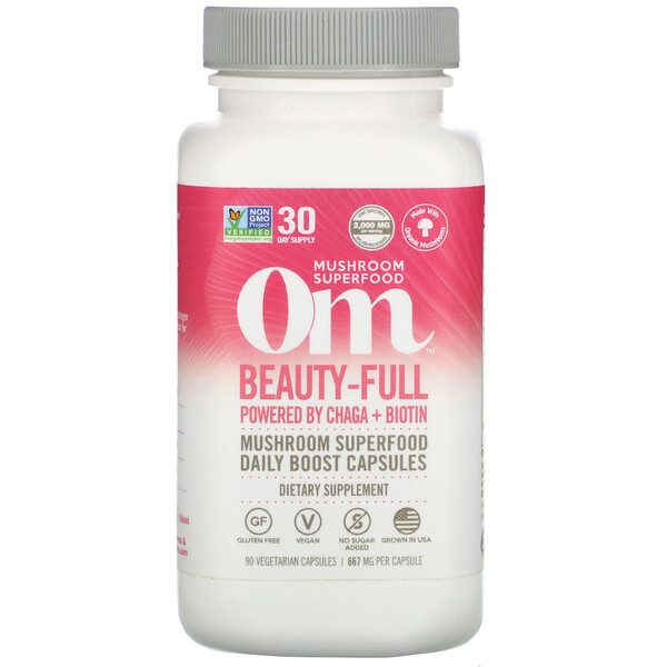 Om Mushrooms, Beauty-Full, 667 mg, 90 Vegetarian Capsules