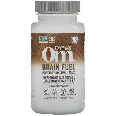 Купить Om Mushrooms Brain Fuel, 667 mg, 90 Vegetarian Capsules