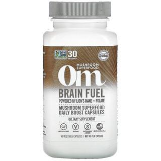 Om Mushrooms, Brain Fuel, 667 mg, 90 Vegetarian Capsules