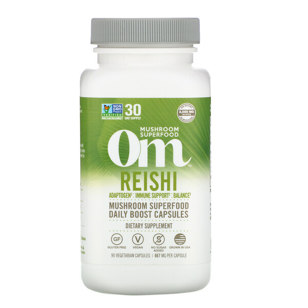 Om Mushrooms, Reishi, 667 mg, 90 Vegetarian Capsules