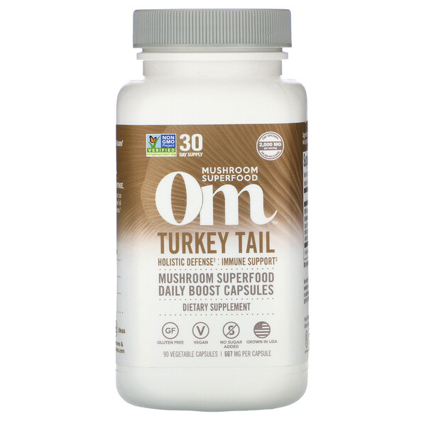 Om Mushrooms, Chaga, 667 mg, 90 Vegetarian Capsules