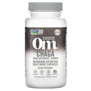 Om Mushrooms, Chaga, 667 mg, 90 Vegetable Capsules отзывы