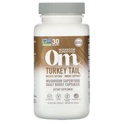 Купить Om Mushrooms Траметес разноцветный, 667 мг, 90 вегетарианских капсул