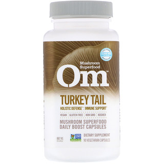 Organic Mushroom Nutrition, Turkey Tail, 667 mg, 90 Vegetarian Capsules