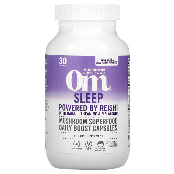 Sleep, Powered by Reishi with GABA, L-Theanine & Melatonin, 90 Vegetable Capsules