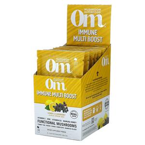 Om Mushrooms, Immune Multi Boost, Lemon & Elderberry Juice Drink Mix, 10 Packets, 0.53 oz (15 g) Each'