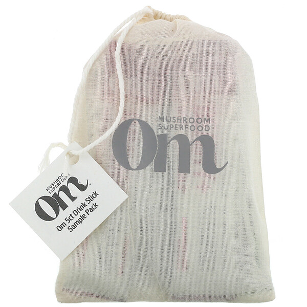 Om Mushroom Drink Pack, Immune+,  Energy+, Beauty+, Brain Fuel+, Energy+, 5 Drink Sticks