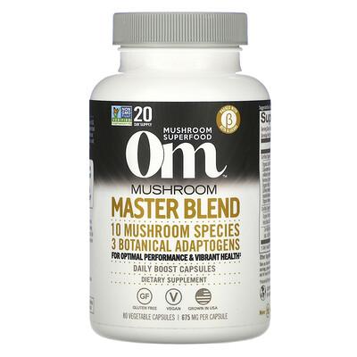 Купить Om Mushrooms Mushroom Master Blend, 675 mg, 80 Vegetable Capsules
