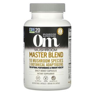 Om Mushrooms, Mushroom Master Blend, 675 mg, 80 Vegetable Capsules