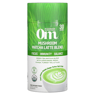 Om Mushrooms, Mushroom Matcha Latte Blend, 8.47 oz (240 g)