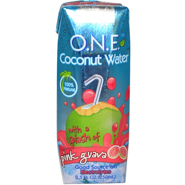 O.N.E, Coconut Water with a Splash of Pink Guava, 8.5 fl oz (250 ml) (Discontinued Item)