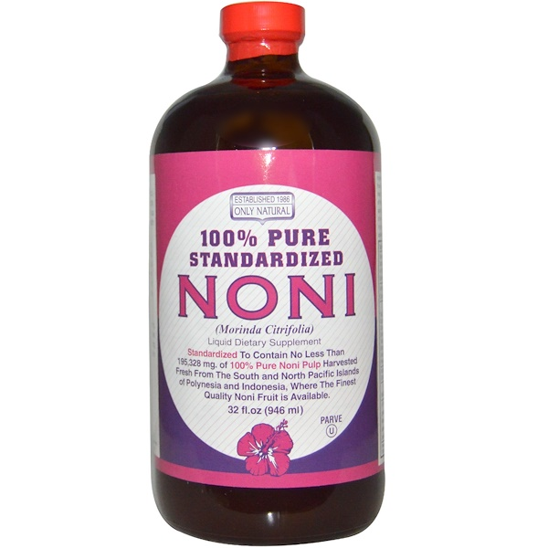 Only Natural, Noni, 100% Pure Standardized, 32 fl oz (946 ml) (Discontinued Item)