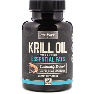 Onnit, Krill Oil, Essential Fats, 60 Softgels отзывы