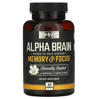 Onnit, Alpha Brain, 90 Capsules