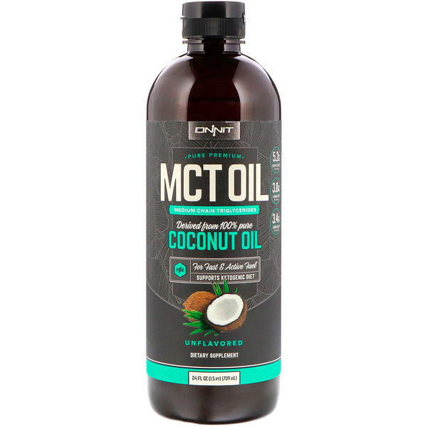 MCT Oil, Unflavored, 24 fl oz (709 ml)