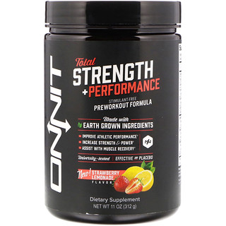 Onnit, Total Strength + Performance, Strawberry Lemonade Flavor, 11 oz (312 g)