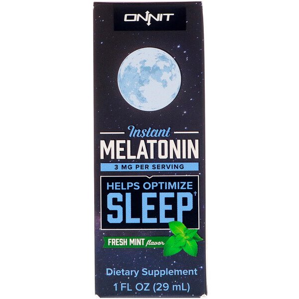 Instant Melatonin, Fresh Mint Flavor, 3 mg , 1 fl oz (29 ml)