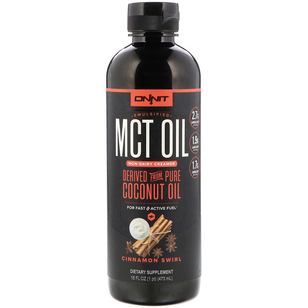 Onnit, Emulsified MCT Oil, Non-Dairy Creamer, Cinnamon Swirl, 16 fl oz (473 ml) (Discontinued Item)
