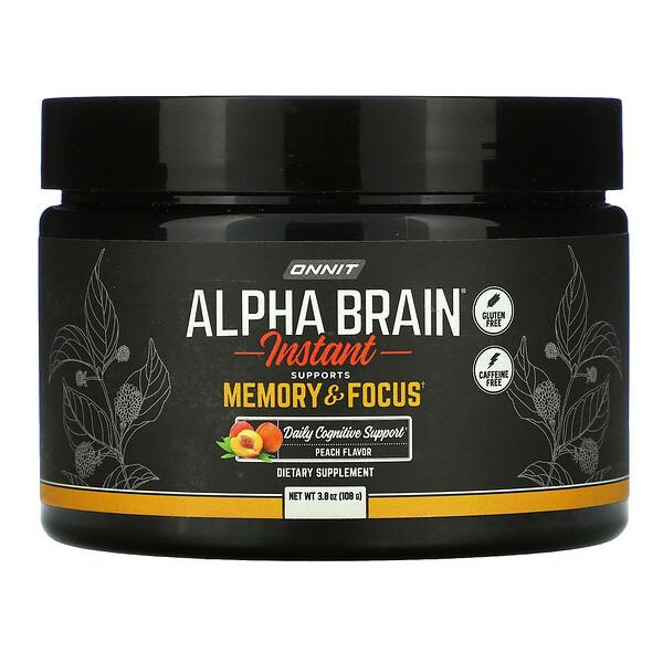 Alpha Brain Instant, Memory & Focus, Peach , 3.8 oz (108 g)