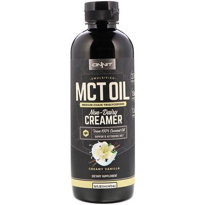 Купить Onnit Emulsified MCT Oil, Non-Dairy Creamer, Creamy Vanilla, 16 fl oz (473 ml)