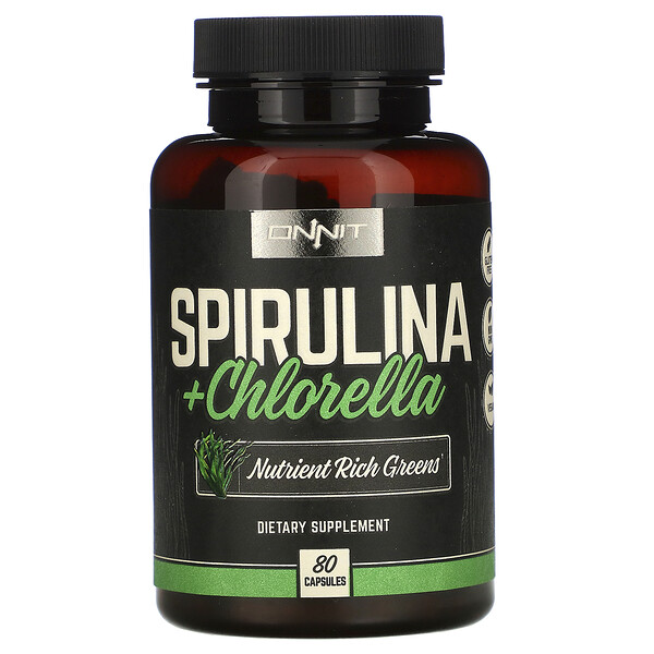 Spirulina + Chlorella, 80 Capsules