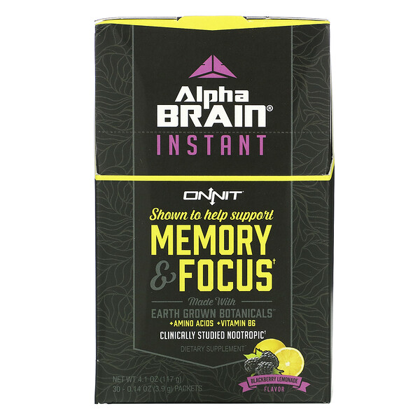AlphaBRAIN Instant, Memory & Focus, Blackberry Lemonade Flavor, 30 Packets, 0.14 oz (3.9 g) Each
