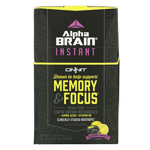 Onnit, AlphaBRAIN Instant, Memory & Focus, Blackberry Lemonade Flavor, 30 Packets, 0.14 oz (3.9 g) Each