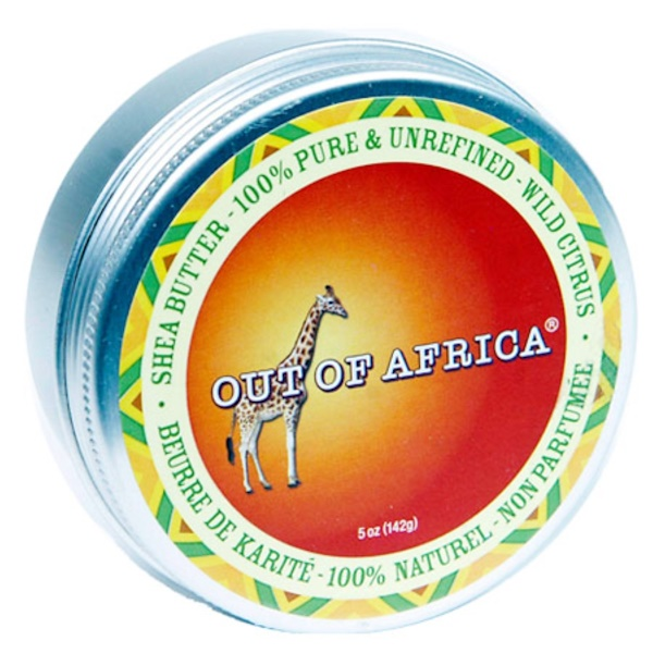 Out of Africa, 100% Pure & Unrefined Shea Butter with Vitamin E , Wild Citrus, 5 oz (142 g) (Discontinued Item)