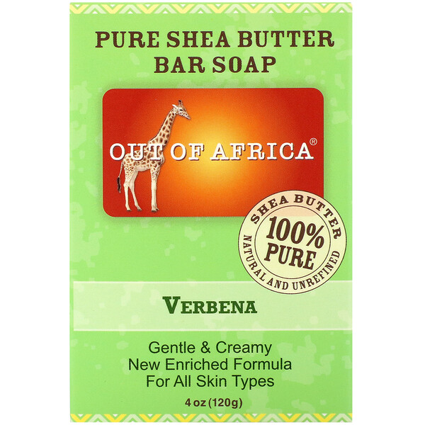 Pure Shea Butter Bar Soap, Verbena, 4 oz (120 g)