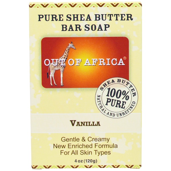 Out of Africa, Pure Shea Butter Bar Soap, Vanilla, 4 oz (120g)