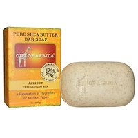 Out of Africa, Pure Shea Butter Bar Soap, Apricot Exfoliating Bar, 4 oz (120 g)
