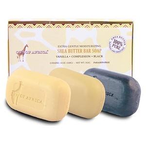 Аут оф Эфрика, Extra Gentle Moisturizing Shea Butter Bar Soap, 3 Bars, 4 oz (120 g) Each отзывы