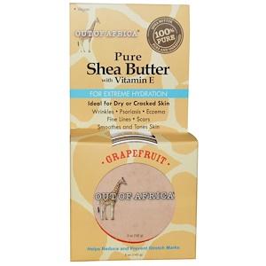 Аут оф Эфрика, Pure Shea Butter with Vitamin E, Grapefruit, 5 oz (142 g) отзывы покупателей