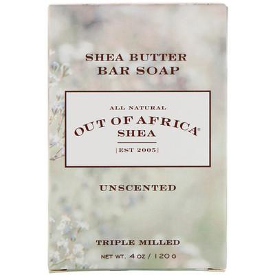 Чистое брусковое мыло из масла ши, без ароматизатора, 4 унции (120 г) arnicare gel облегчение боли без запаха 120 г 4 1 унции