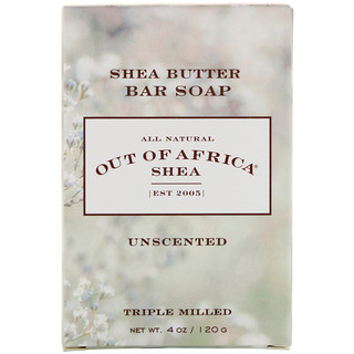 Out of Africa, Pure Shea Butter Bar Soap, Unscented, 4 oz (120 g)