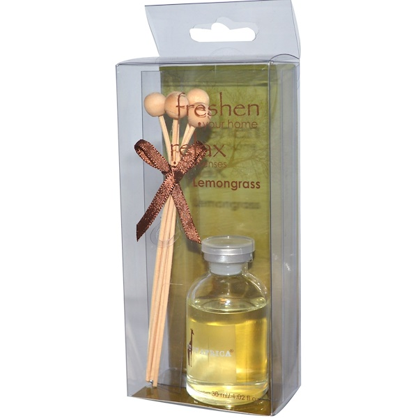 Out of Africa, Mini Fragrance Diffuser, Lemongrass, 1.02 fl oz (30 ml) (Discontinued Item)