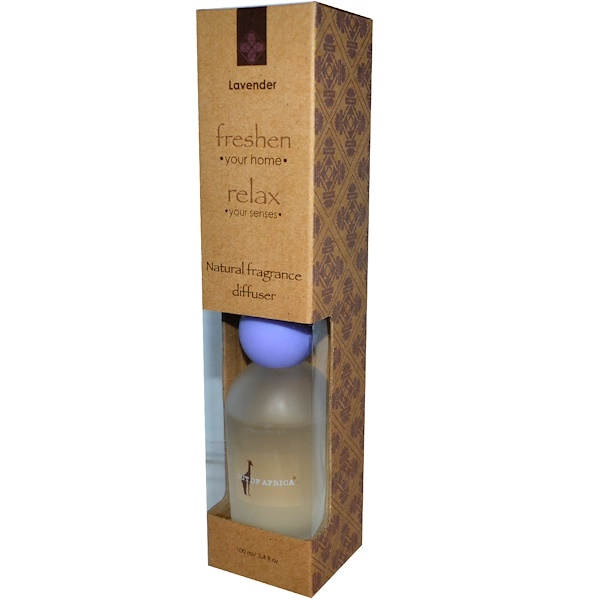 Out of Africa, Natural Fragrance Diffuser, Lavender, 3.4 fl oz (100 ml) (Discontinued Item)