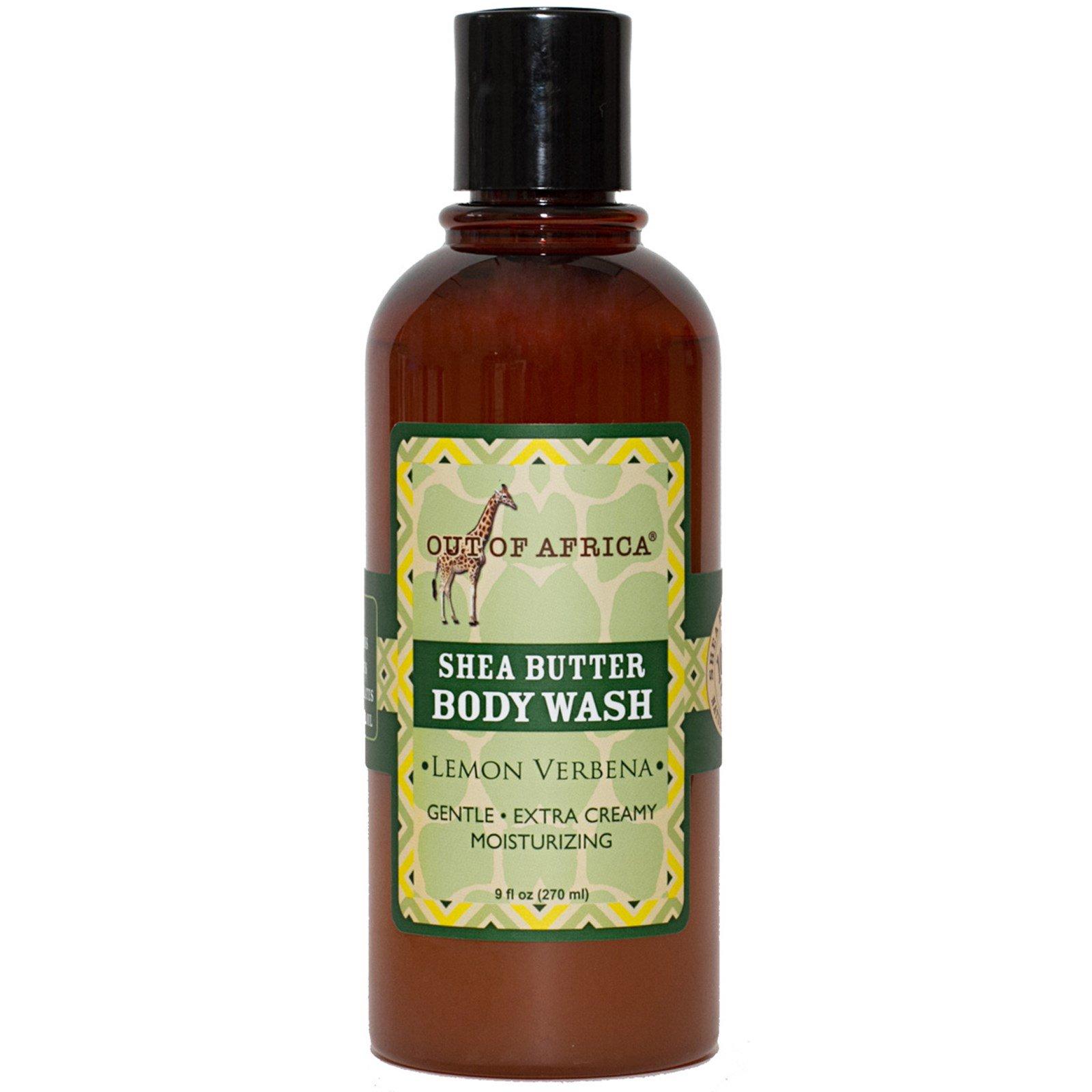 Out of Africa, Средство для мытья тела с маслом ши, лимон и вербена, 8 унций (240 мл)
