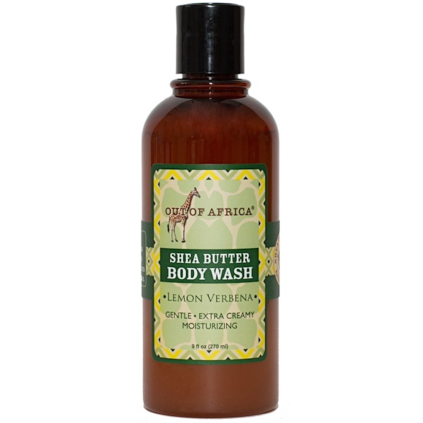 Out of Africa, Shea Butter Body Wash, Lemon Verbena, 9 fl oz (270 ml) (Discontinued Item)