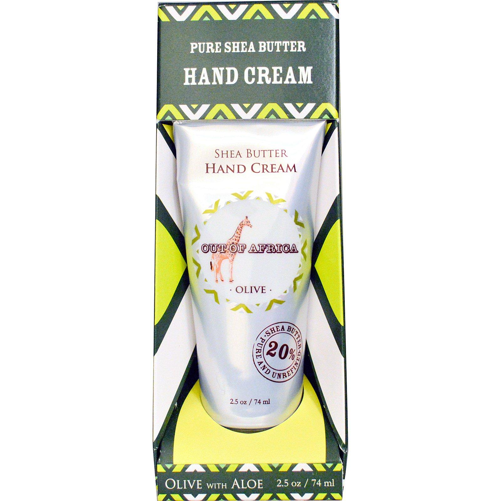 Out of Africa, Крем для рук с маслом ши, оливой и алоэ, 2,5 унции (74 мл)