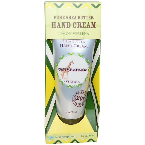 Pure Shea Butter Hand Cream, Lemon Verbena, 2.5 oz (74 ml)