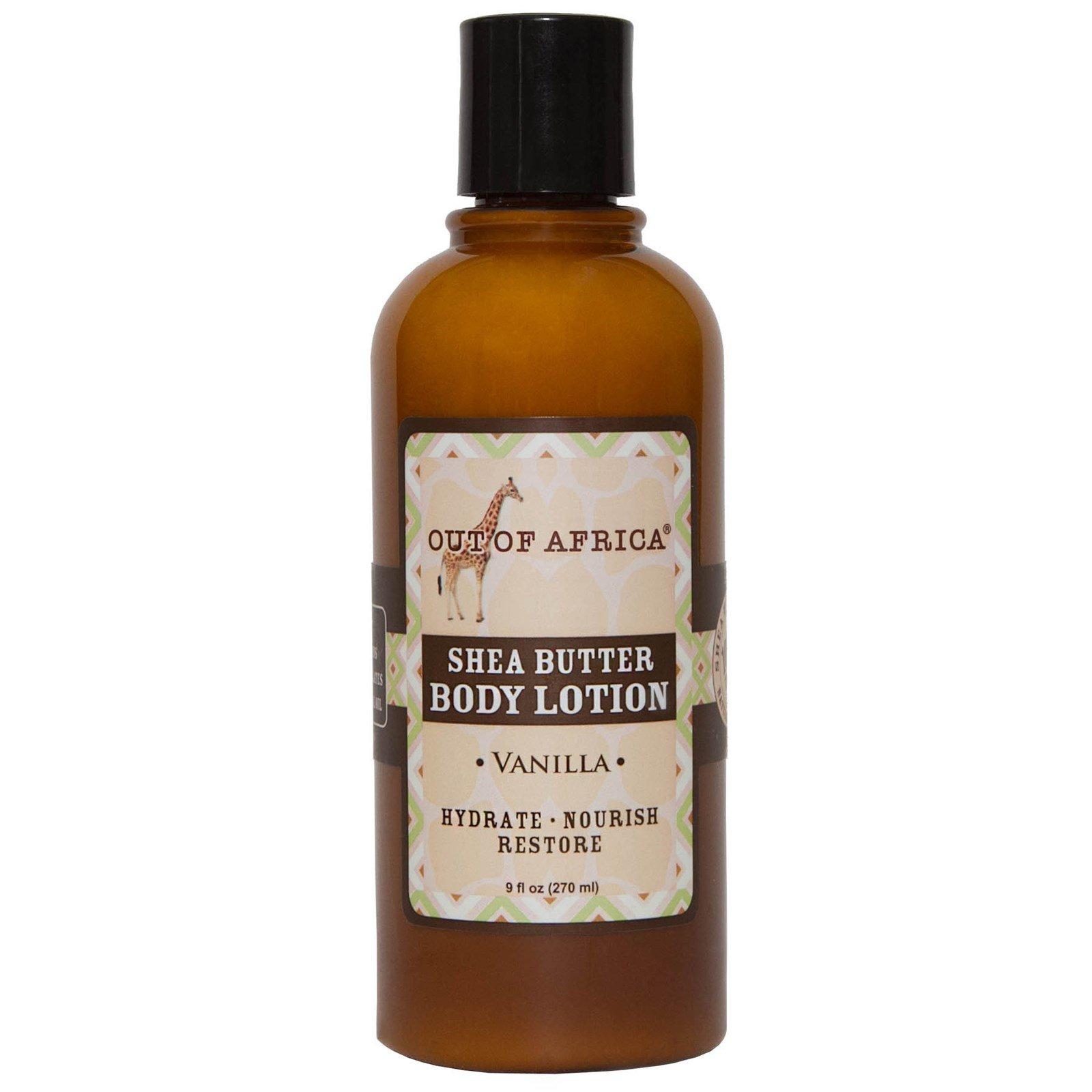 Out of Africa, Лосьон для тела с маслом ши, ваниль, 9 унций (270 мл)