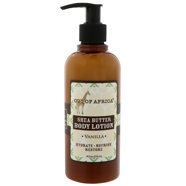 Out of Africa, Shea Butter Body Lotion, Vanilla, 9 fl oz (270 ml) (Discontinued Item)