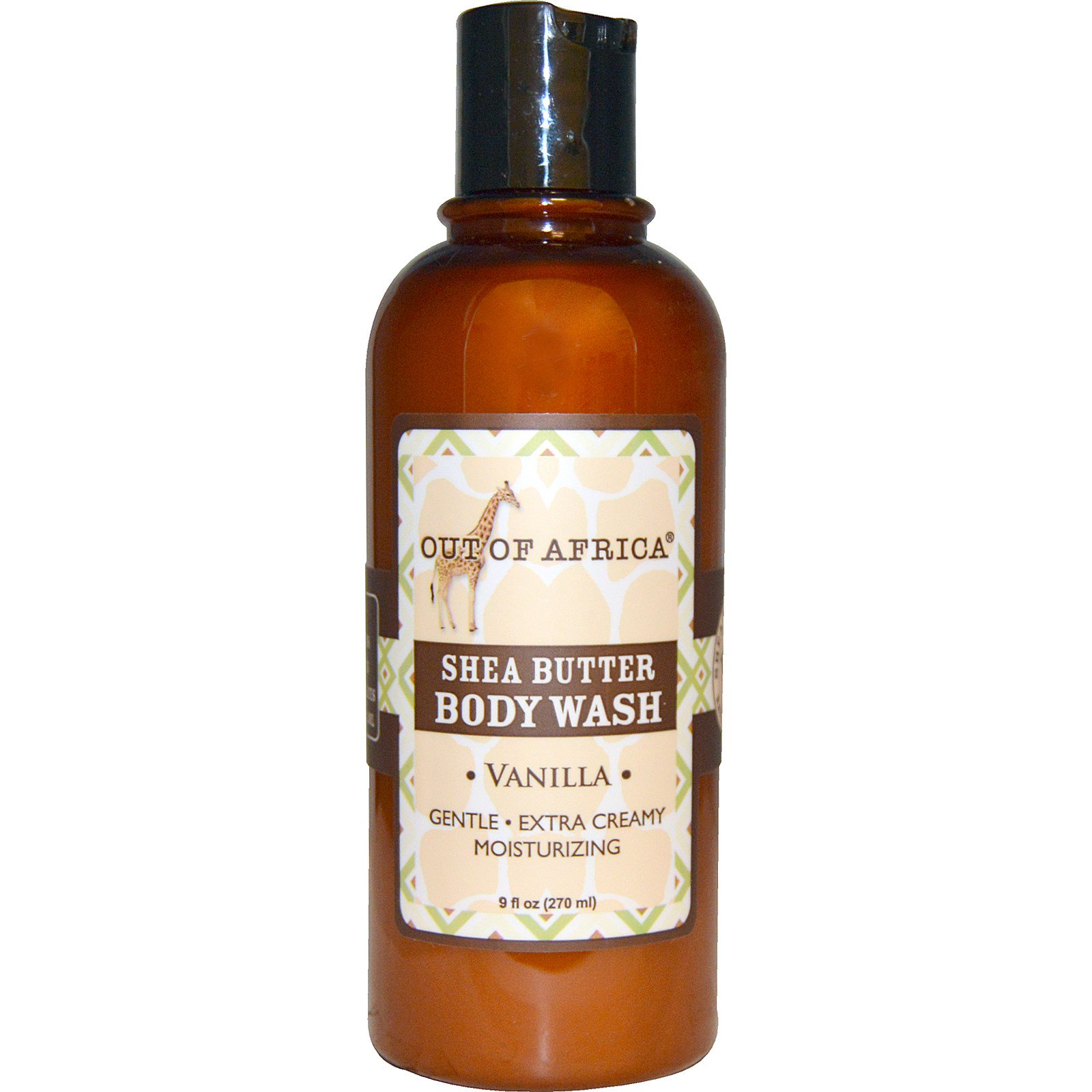 Out of Africa, Гель для душа с органическим маслом ши, тропическая ваниль, 9 жидких унций (270 мл)
