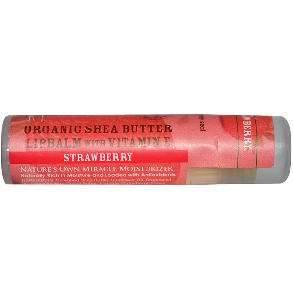 Out of Africa, Organic Shea Butter Lip Balm with Vitamin E, Strawberry, 0.25 oz (7.0 g) (Discontinued Item)