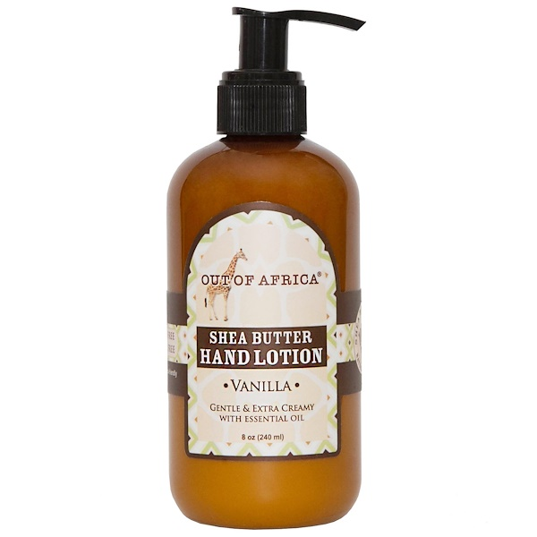 Out of Africa, Lotion pour les mains, vanille, 8 oz (230 ml)