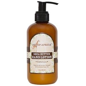 Аут оф Эфрика, Shea Butter Hand Lotion, Vanilla, 8 oz (230 ml) отзывы покупателей